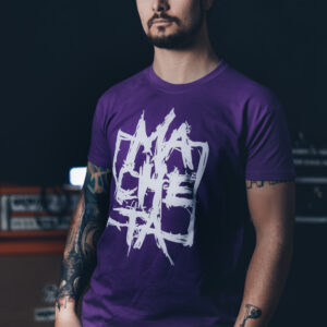 T-shirt (purple/white)