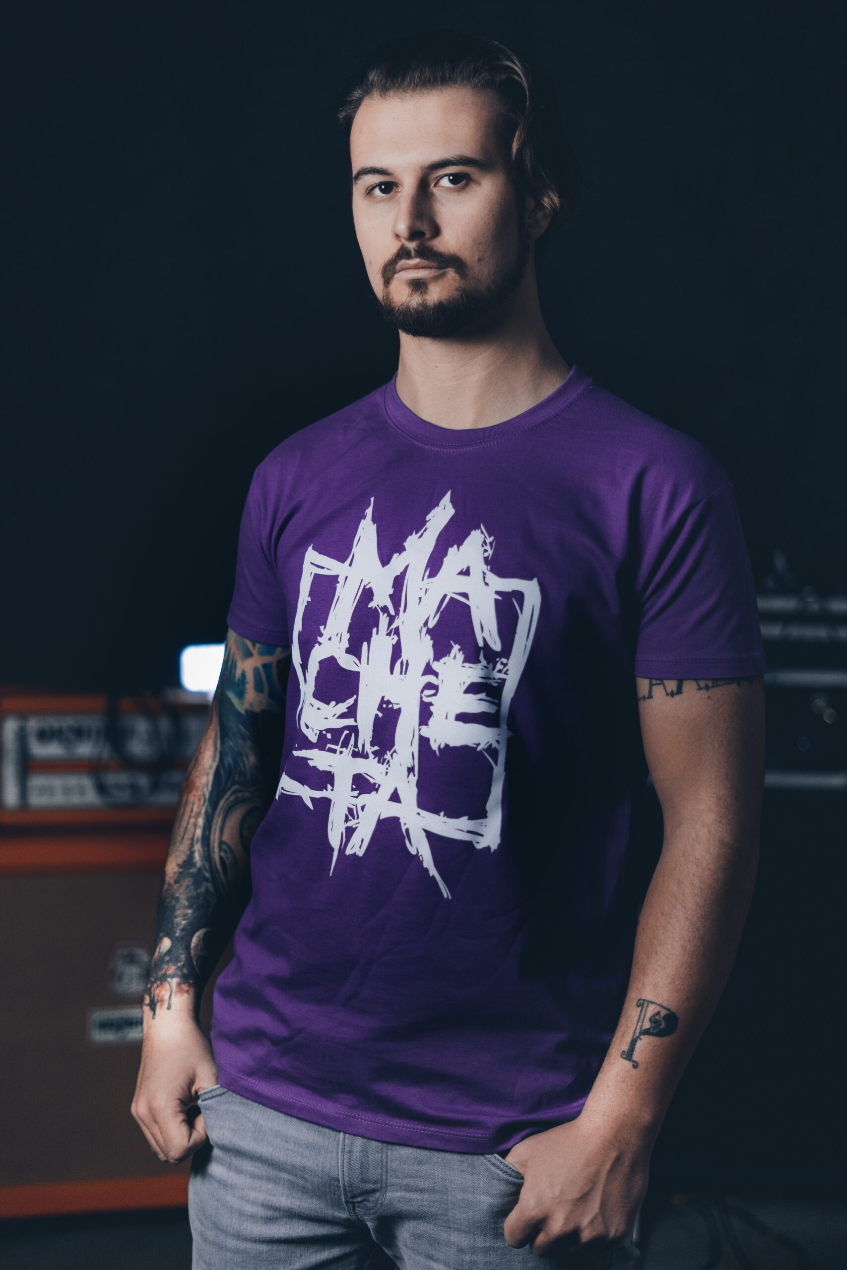 Macheta Men Purple T-shirt