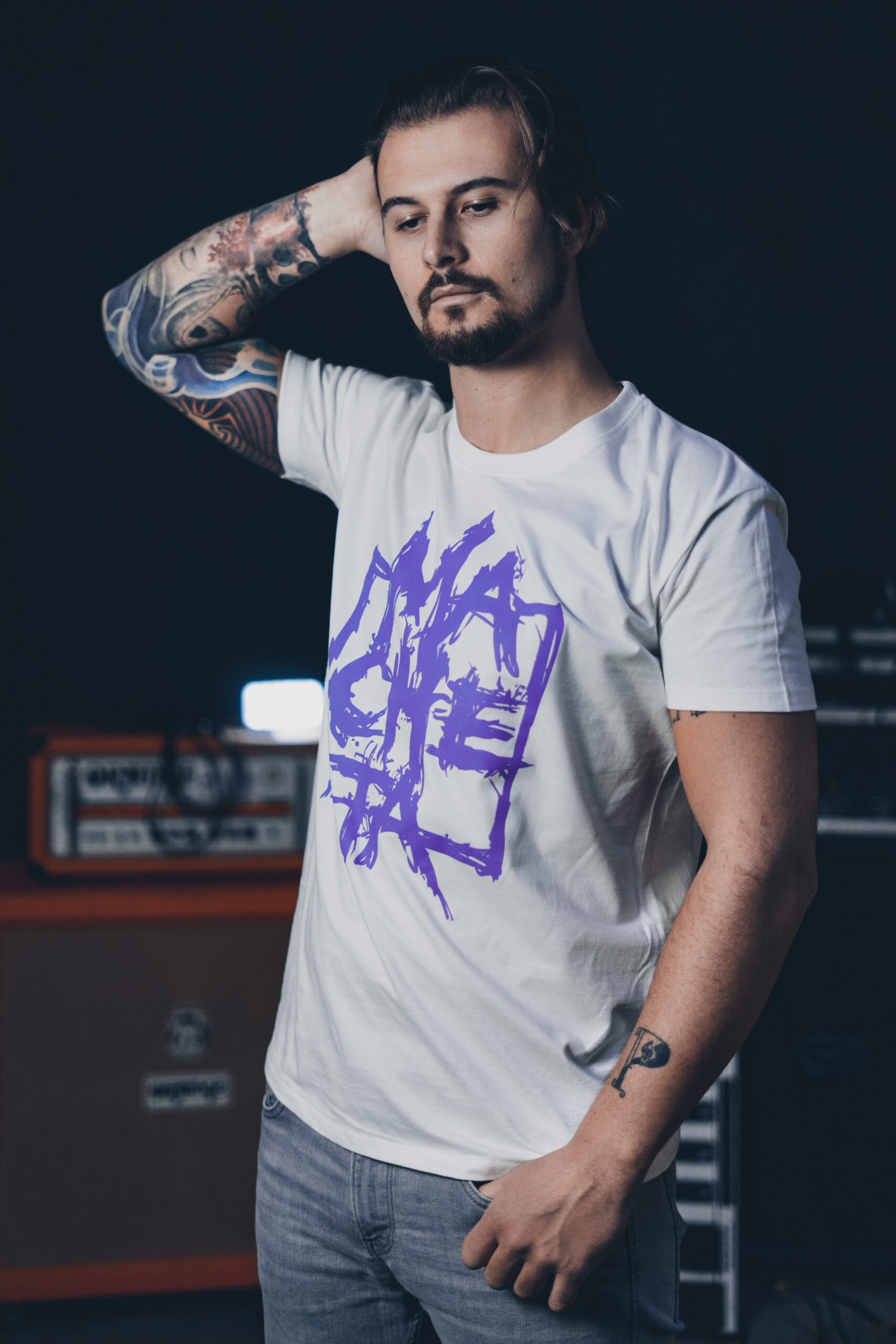 Macheta Men White T-shirt