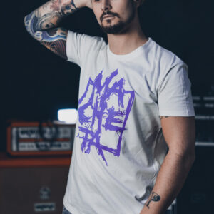 T-shirt (white/purple)