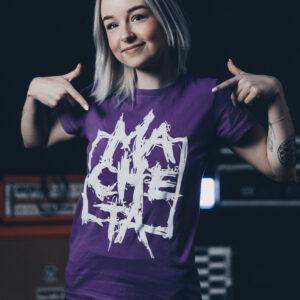Women T-shirt (purple/white)
